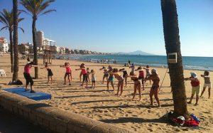 Actividades en las playas de Peñiscola
